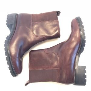 Cole Haan Chestnut Brown Leather Waterproof Boots
